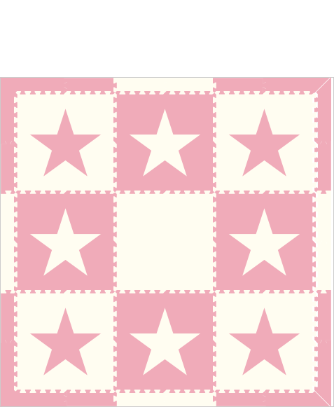 M421- Stars Light Pink and White 6x6