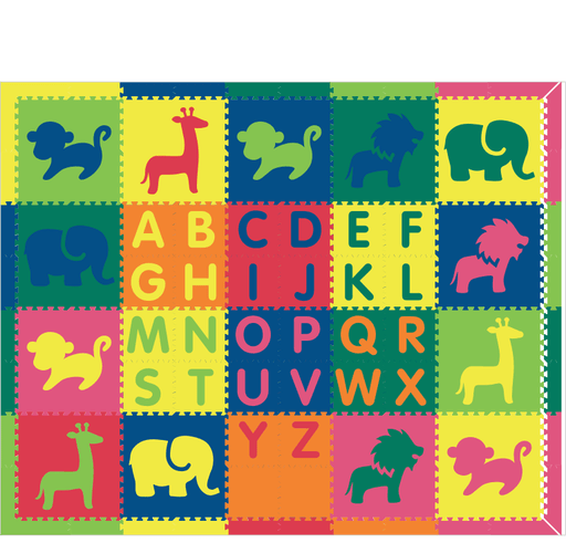 M713A- Alphabet Safari Colorful 8x10