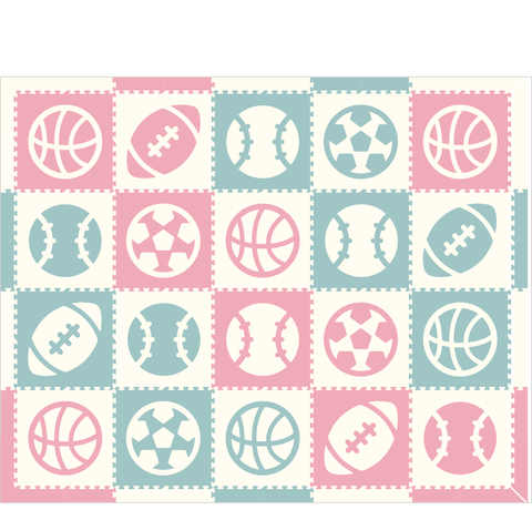 M339- Sports Lt. Pink, Lt. Blue, White 8x10