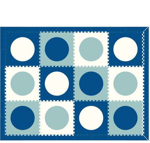 M30- Circles Blue, Light Blue, White 6 x 8