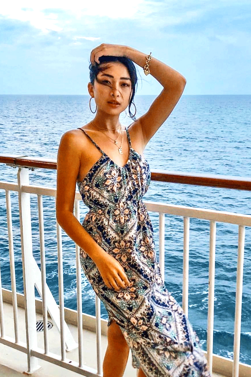 Camille Midi Dress | Amalfi
