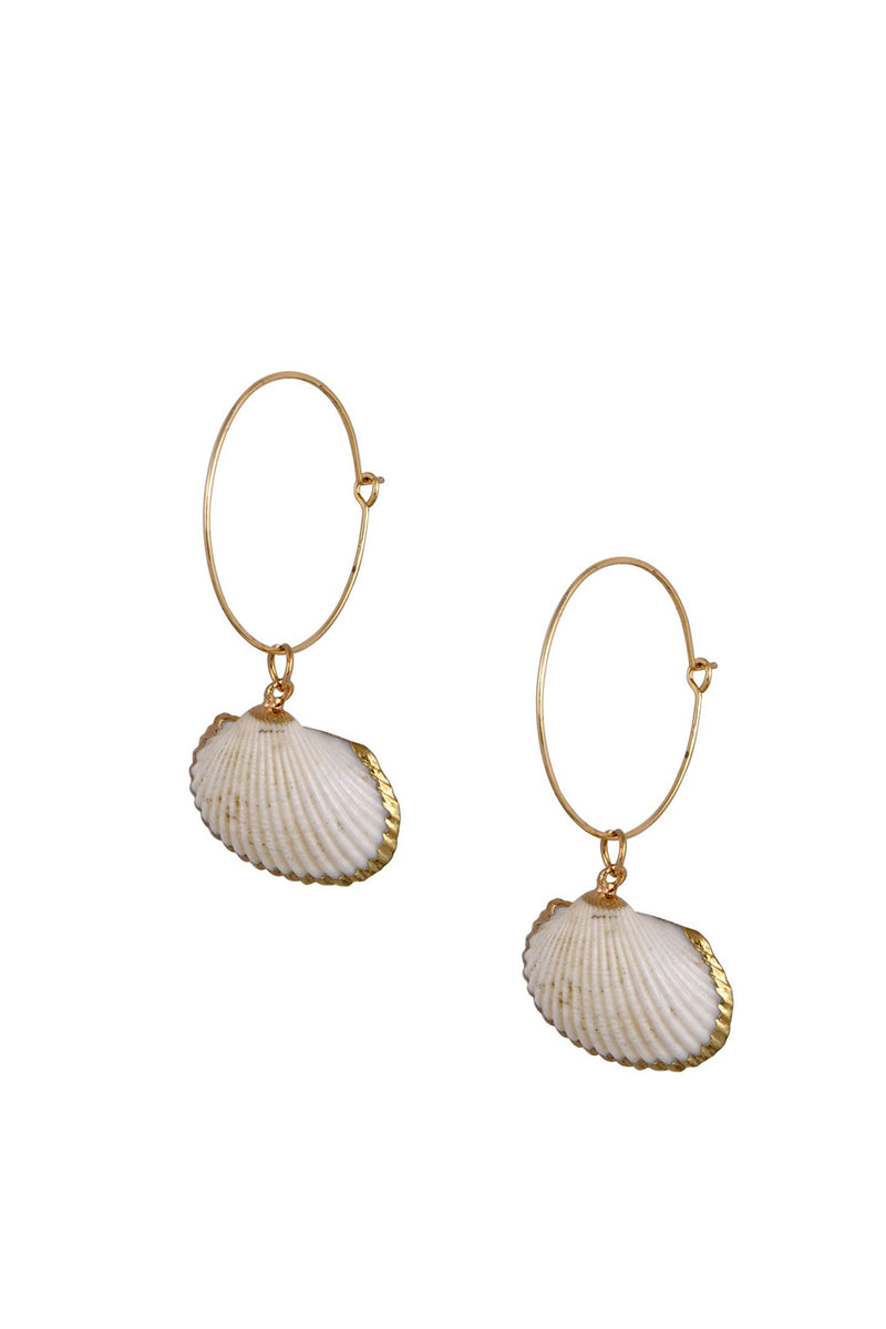 Natural Scallop Earrings