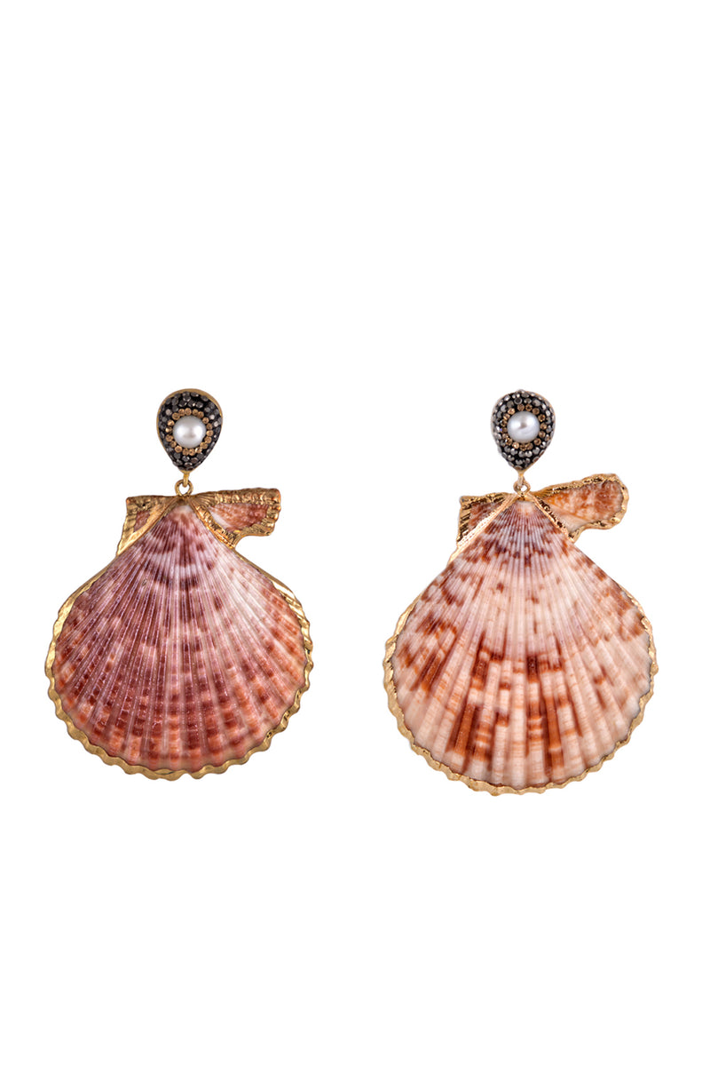 Royal Scallop Earrings