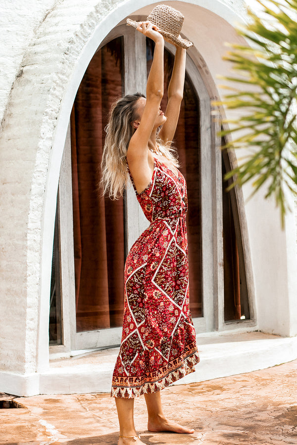 Hibiscus Midi Dress