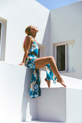 Avalon Shift Dress | Teal Bloom
