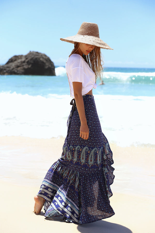 Ayana Wrap Skirt | Peacock