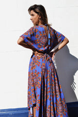 Botanical Maxi Dress | Cobalt