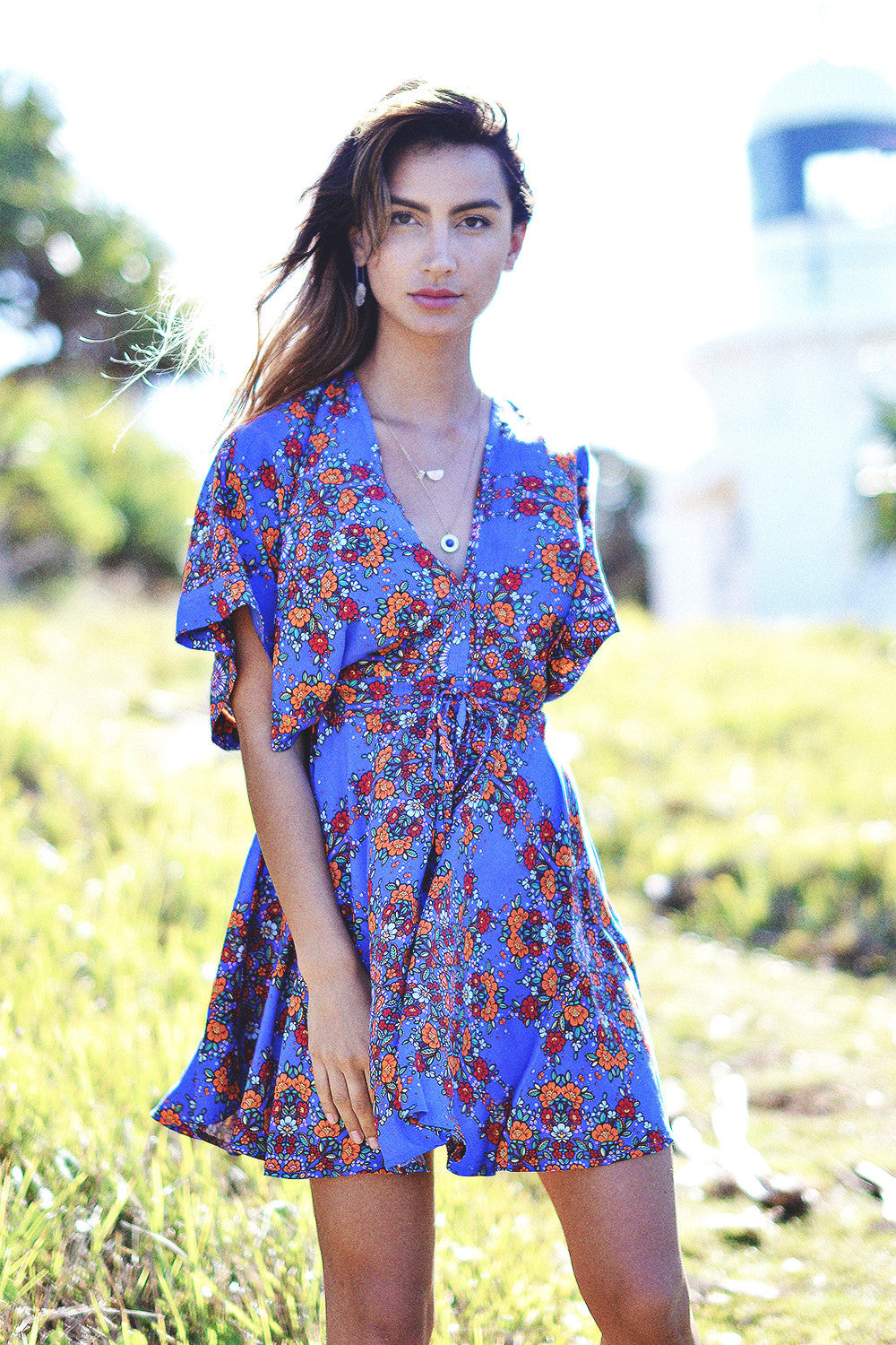 Botanical Sundress | Cobalt