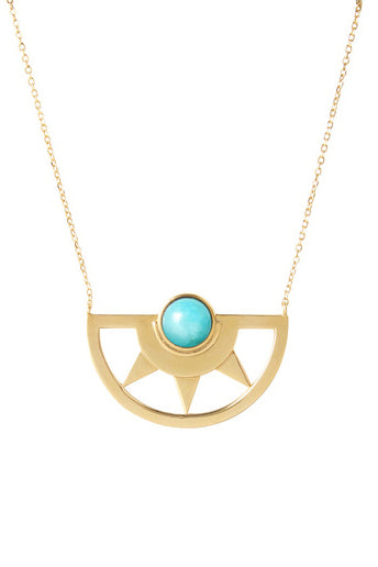 Inca Sun Necklace | Amazonite