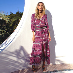 Oracle Maxi Dress | Berry