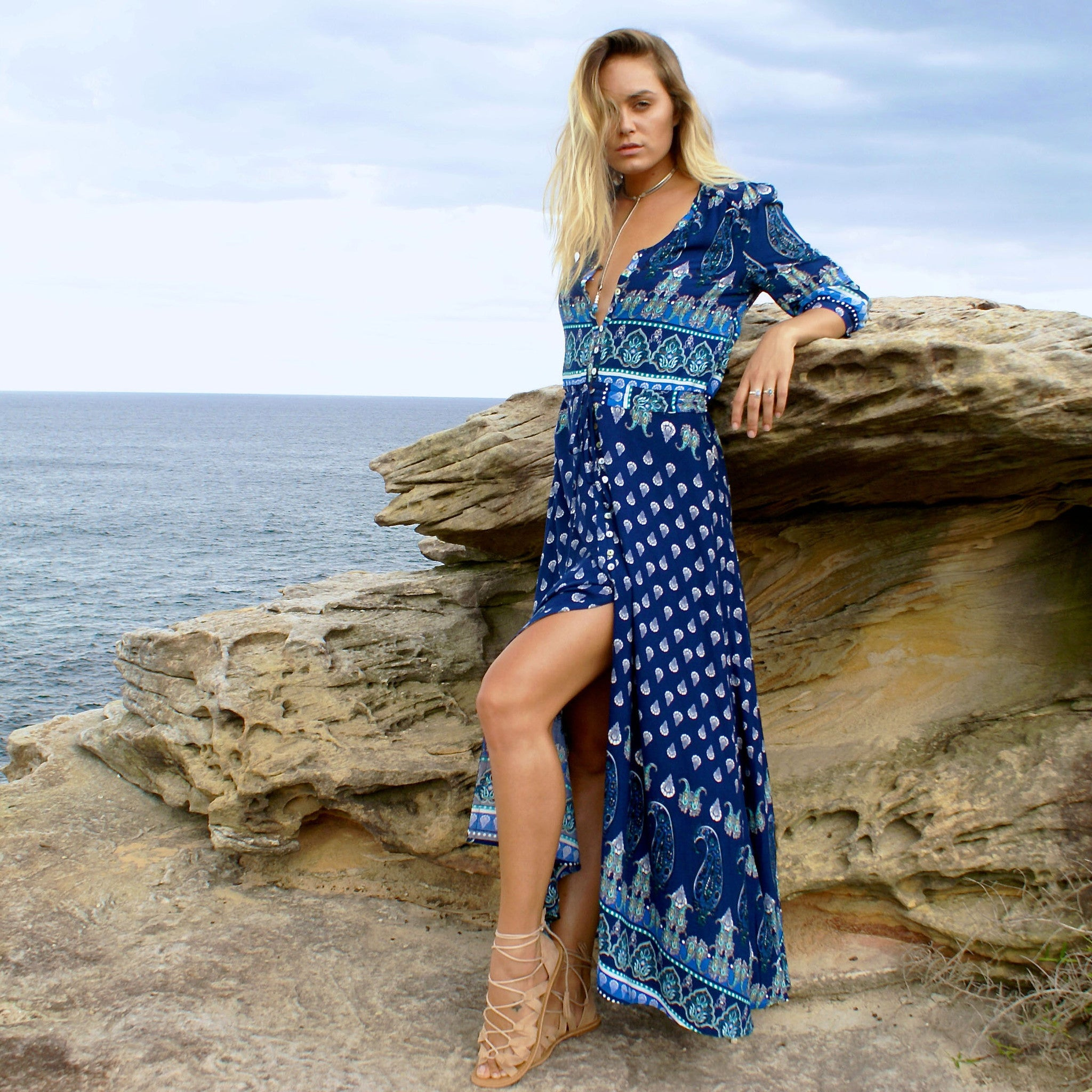 Oracle Maxi Dress | Deep Sea