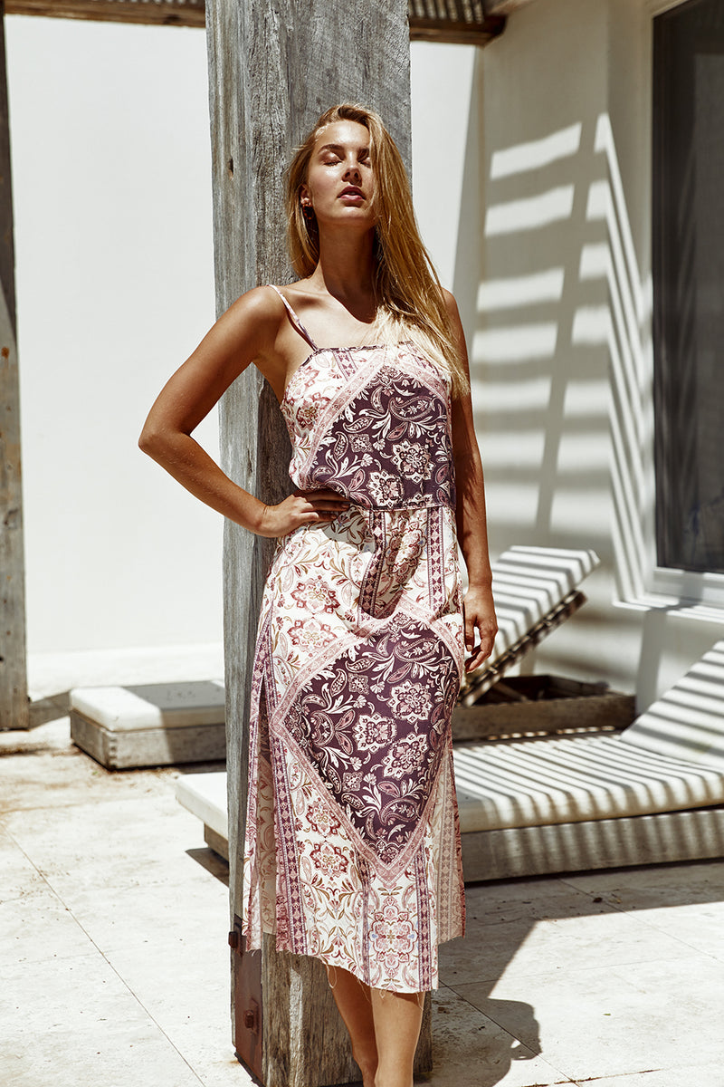 Palma Midi Dress | Grape
