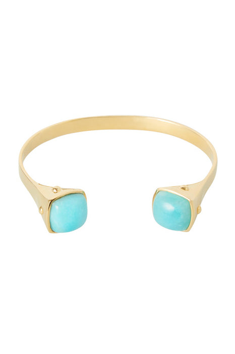 Two Tribes Gold Cuff | Amazonite