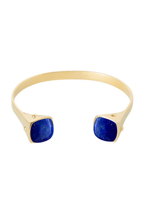 Two Tribes Gold Cuff | Lapis