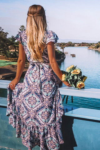 Oracle Maxi Dress | Teal Bloom