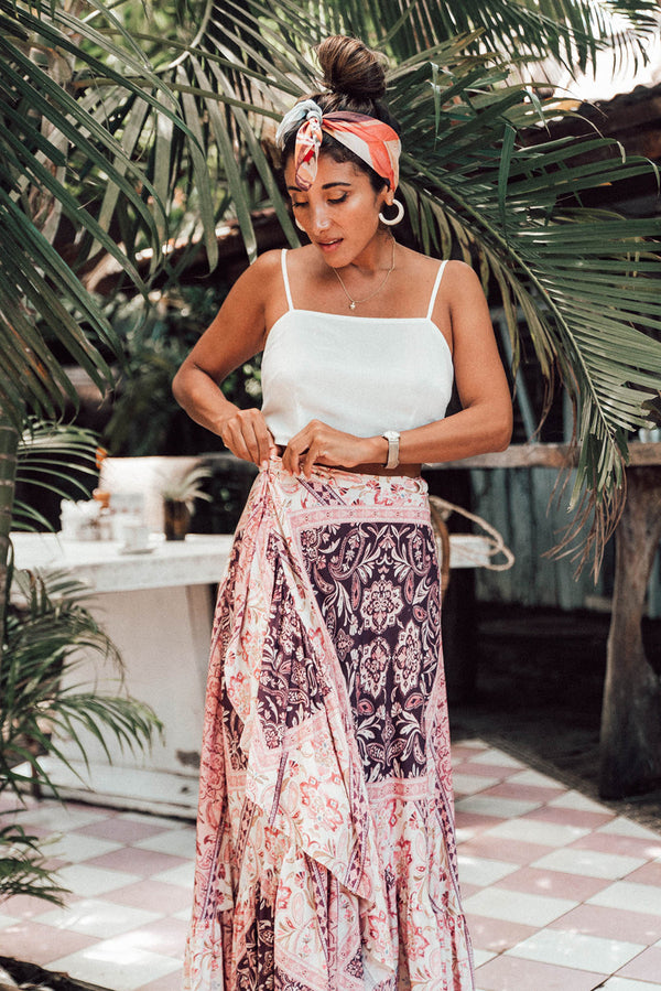 Palma Wrap Skirt | Grape