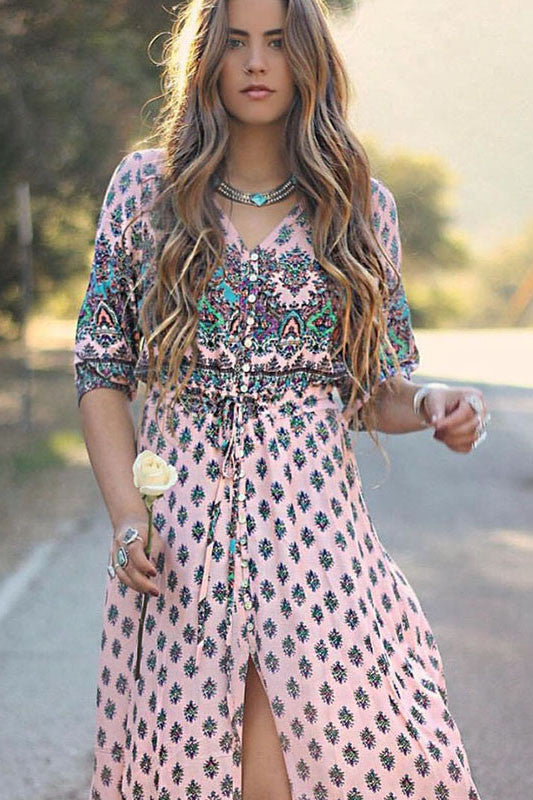 Oracle Maxi Dress | Pink