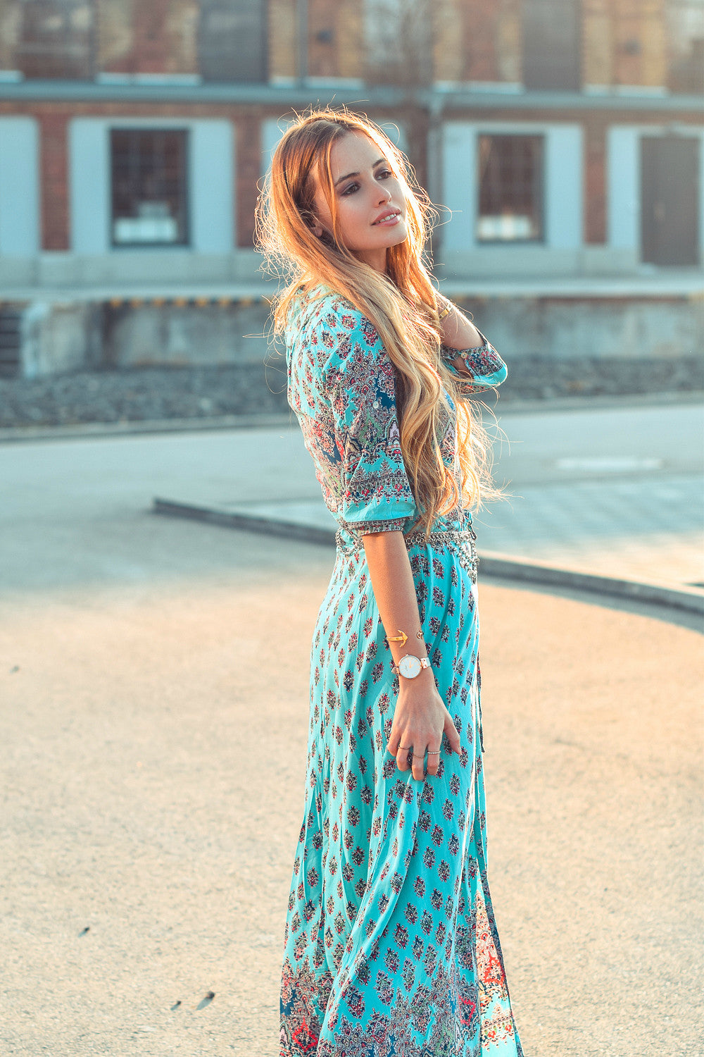 Oracle Maxi Dress | Turquoise