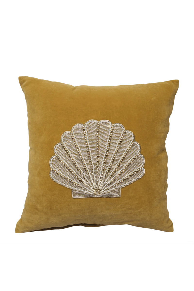 Velvet Cushion Cover - Gold Shell