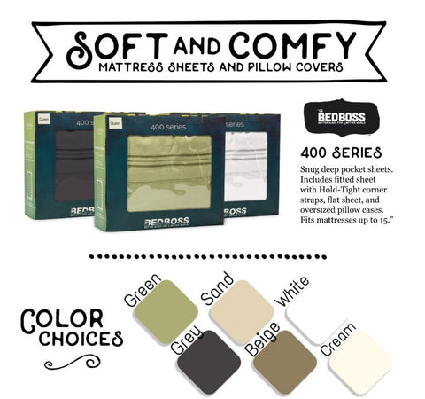 The Bed Boss 400 Series Soft & Comfy Mattress Sheets