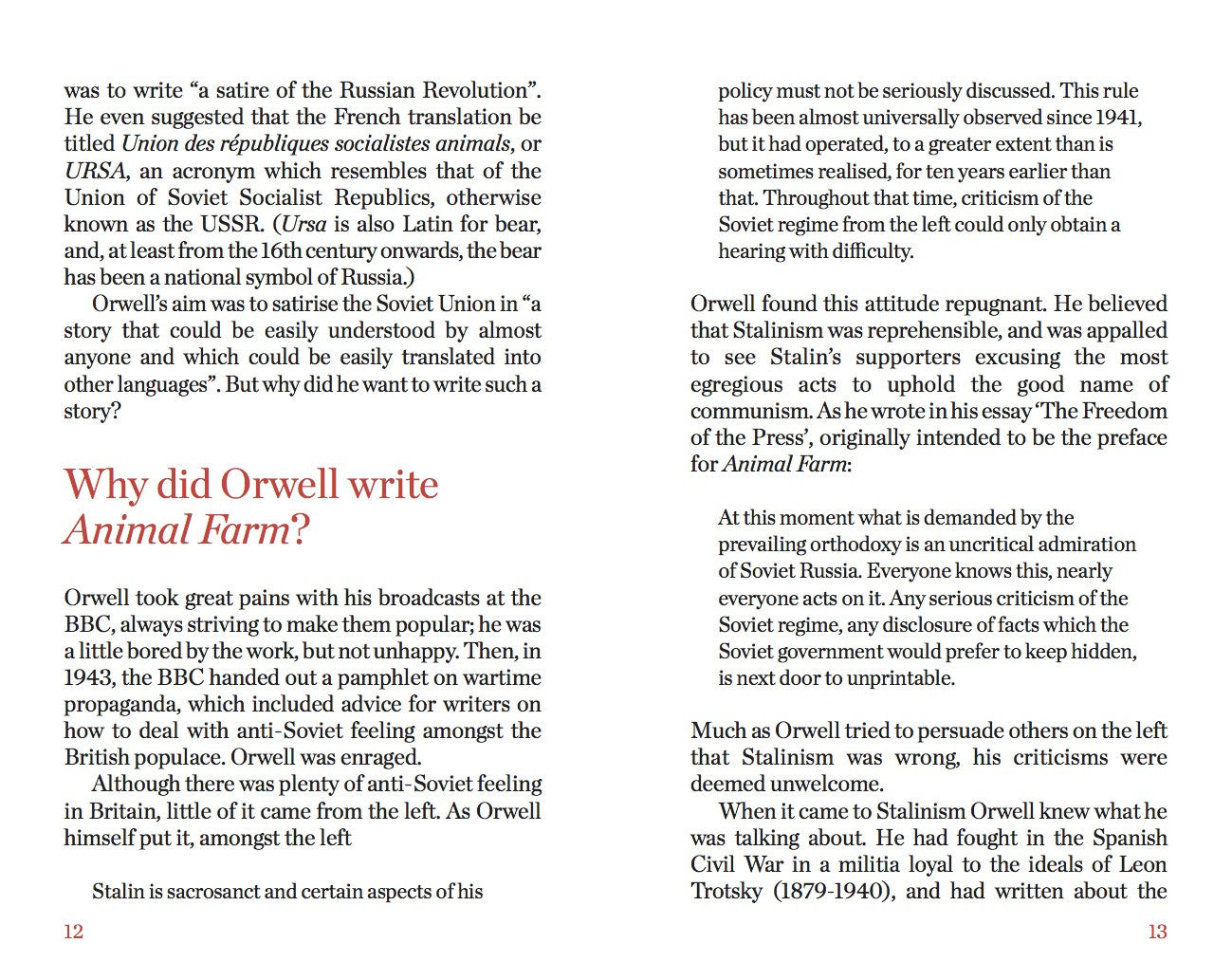 george orwells animal farm conflicts essay Free papers animal farm by george orwell  old major is warning them that the rebellion will bring conflict and if they are to make it a success they must always .