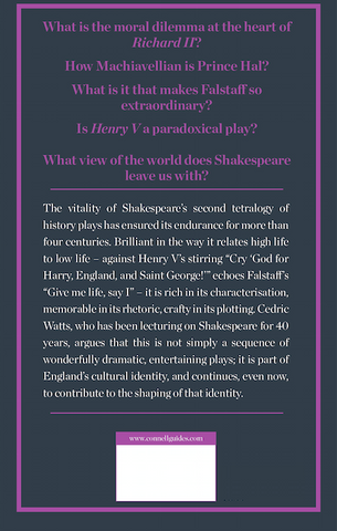 Shakespeare's Second Tetralogy Study Guide