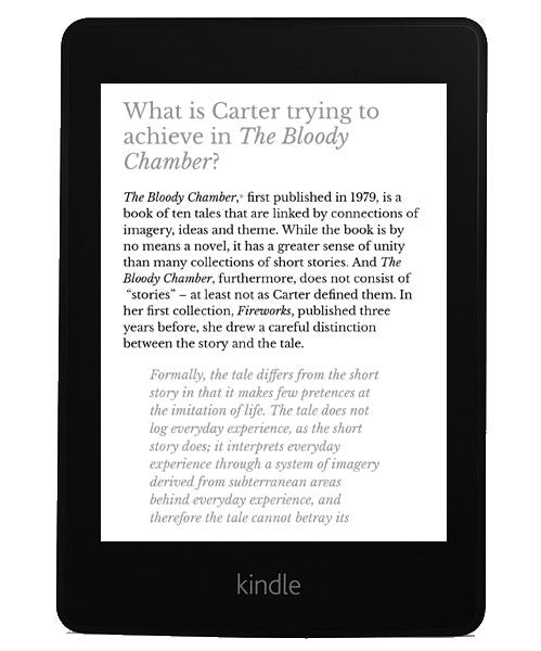 angela carter contemporary critical essays Gender identity in feminist science fiction english literature essay essays on the art of angela carter the wolfangela carter: [contemporary critical.