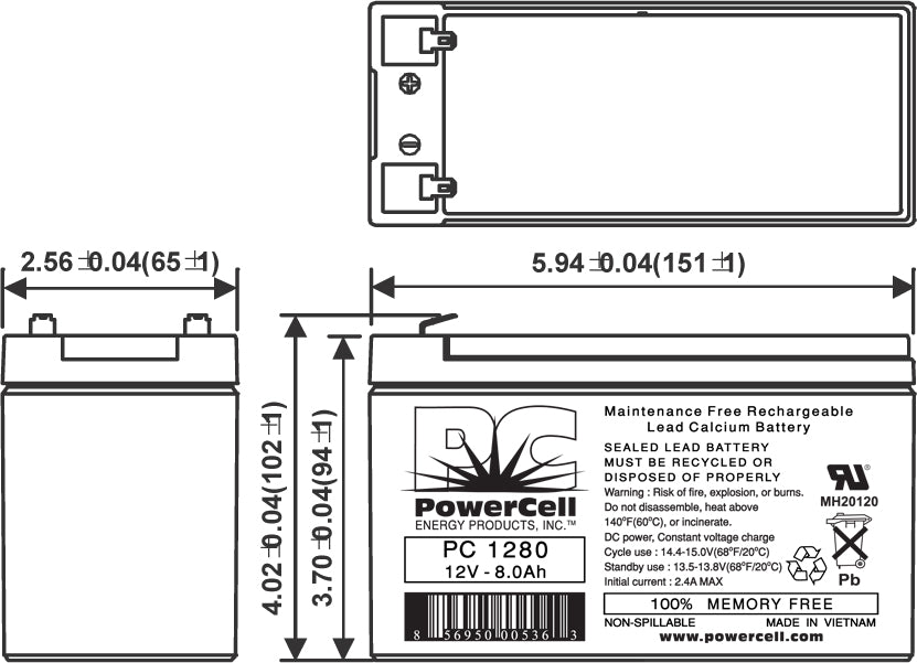 PowerCell_PC1280_Dims