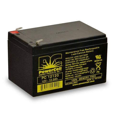 PowerCell PC12120 12V 12.0 Ah Sealed Lead Acid Battery