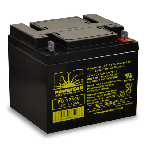 PowerCell PC12400 12V 40.0 Ah Sealed Lead Acid Battery