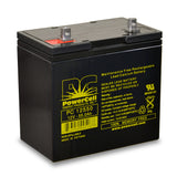 PowerCell PC12550 12V 55.0 Ah Sealed Lead Acid Battery