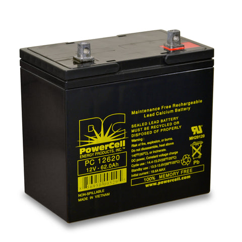 PowerCell PC12620 12V 62.0 Ah Sealed Lead Acid Battery