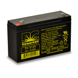 PowerCell PC6120 6V 12.0 Ah Sealed Lead Acid Battery