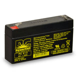 PowerCell PC613 6V 1.3 Ah Sealed Lead Acid Battery