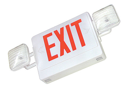 PCEXEMRC Combo LED Exit/Incandescent Emergency with Remote Capability