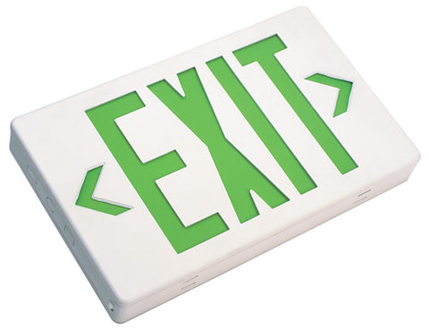 PCEXBBWG LED Exit Sign with Battery Backup