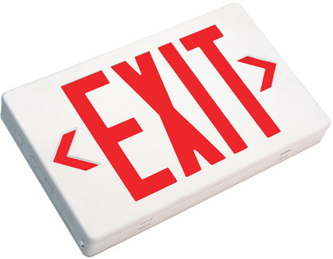PCEXBB LED Exit Sign with Battery Backup