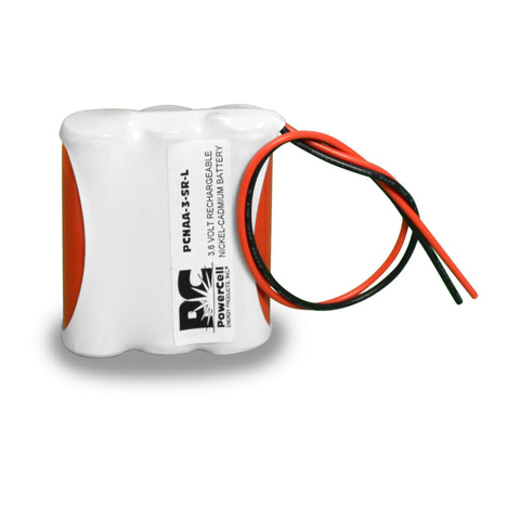 PowerCell PCNAA-3-SR-L, 3.6V Nickel Cadmium Battery Assembly