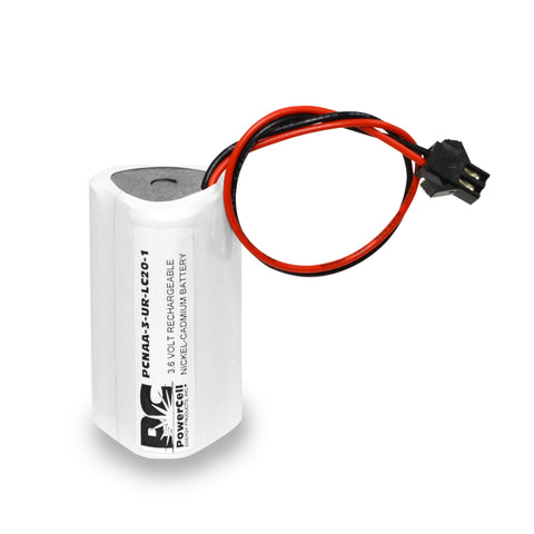 PowerCell PCNAA-3-UR-LC20-1, 3.6V Nickel Cadmium Battery Assembly