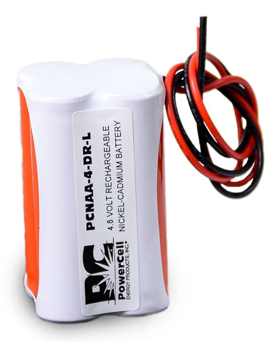 PowerCell PCNAA-4-DR-L, 4.8V Nickel Cadmium Battery Assembly