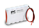 PowerCell PCNAA-5-SR-L, 6V Nickel Cadmium Battery Assembly