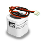 PowerCell PCNAA2/3-4-DR-LC10-1, 4.8V Nickel Cadmium Battery Assembly