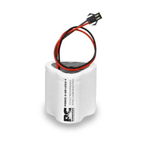 PowerCell PCNCS-3-UR-LC20-1, 3.6V Nickel Cadmium Battery Assembly