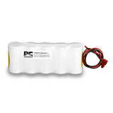 PowerCell PCNCS-5-SR-LC27-1, 6V Nickel Cadmium Battery Assembly