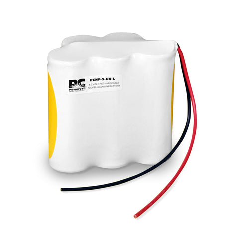 PowerCell PCNF-5-UR-L, 6V Nickel Cadmium Battery Assembly