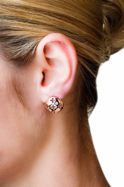 Majesty Studs (14K Gold with Diamonds) - Dafina Jewelry - 2