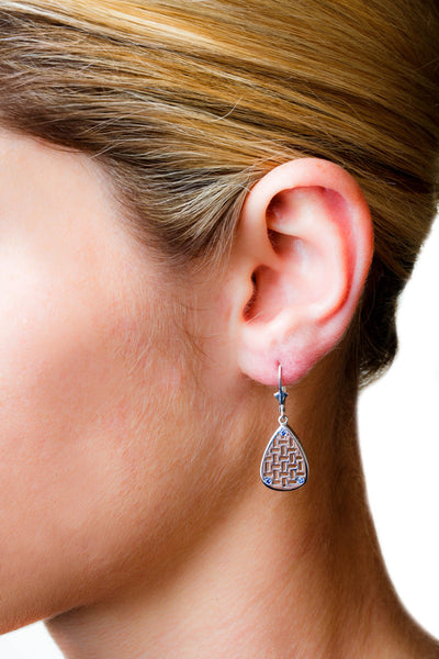 Allure Drop Earrings (Sterling silver with Pink Sapphires) - Dafina Jewelry