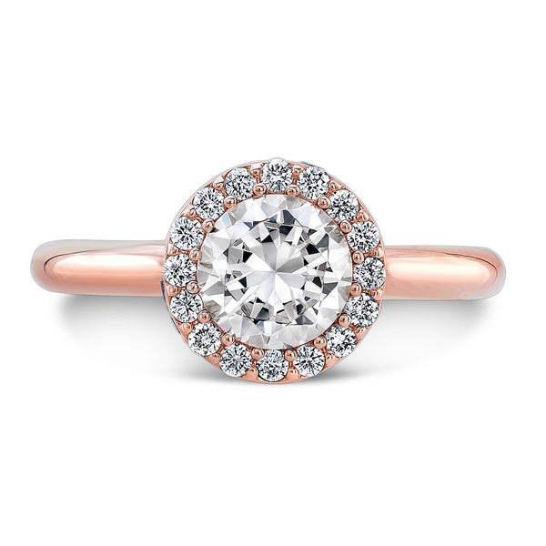 Tall Brilliant (Center Diamond with side Pink Sapphires) - Dafina Jewelry - 4