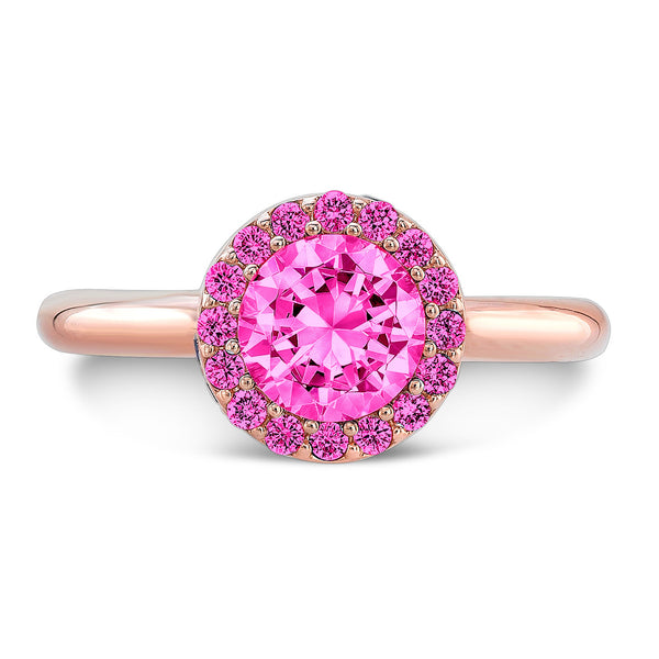 Tall Brilliant (Center and top Pink Sapphires) - Dafina Jewelry - 4