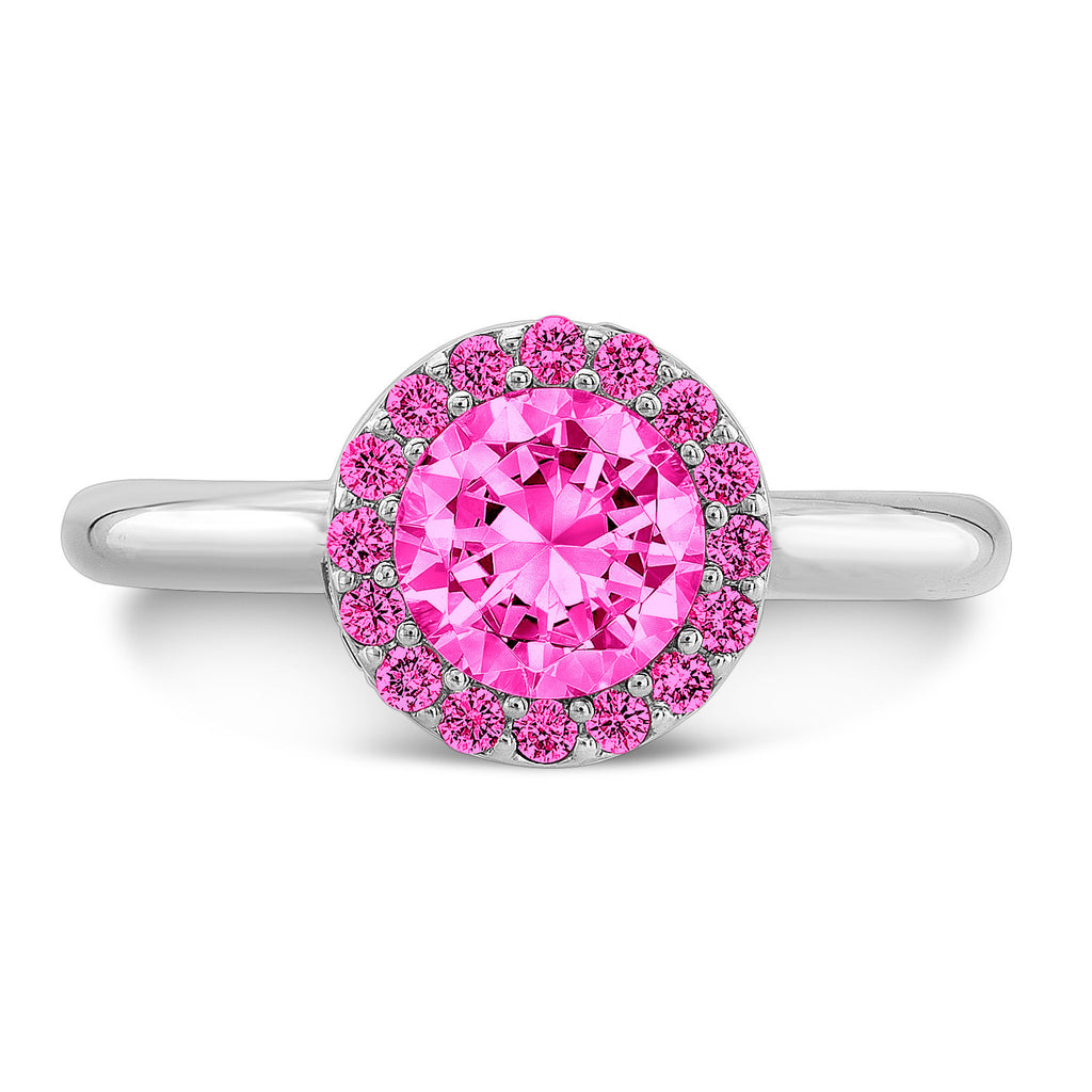Rose Gold Pink Sapphire Engagement Ring | Dafina Jewelry